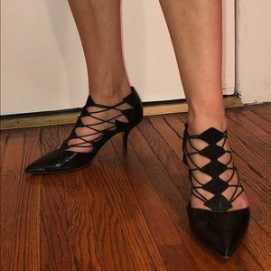 Zara black pointy heels
